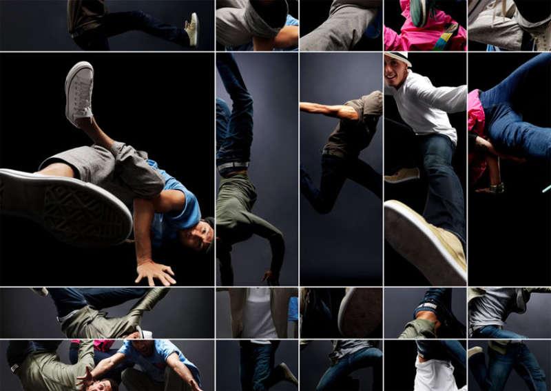 jquery 网格手风琴式多张照片拼接特效