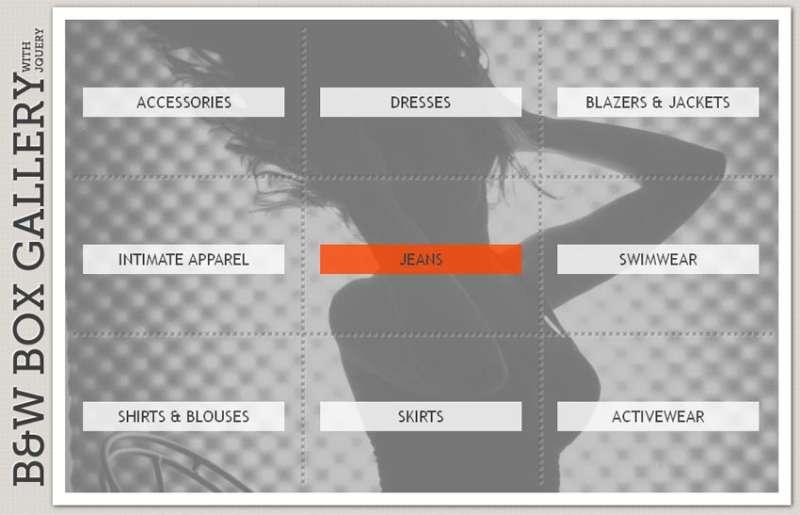 jquery特效 点击导航栏标签显示图片网格图片相册